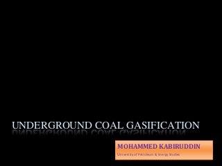 Underground Coal Gasification - India & Global