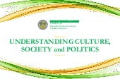 UCSP Understanding Culture, Society, and Politics