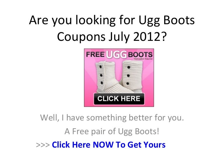 uggs boots coupons