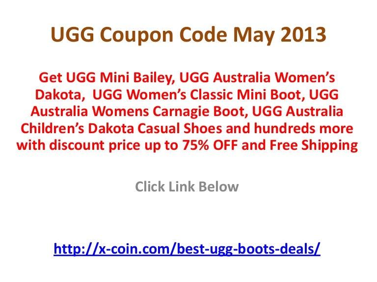 0f74e45ea3d UGG Coupon Code May 2013