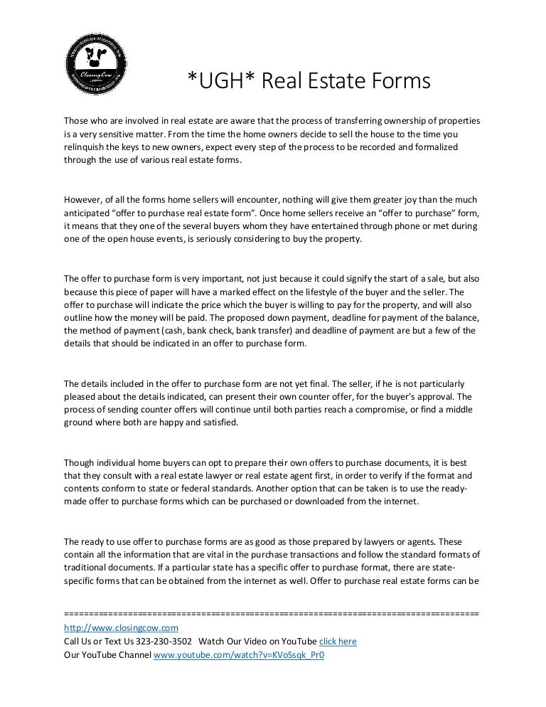 Real Estate Forms