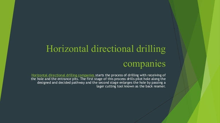 Horizontal directional drilling companies