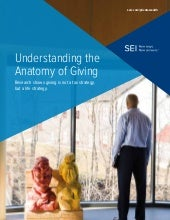 UHNW individuals and the anatomy of giving.  HNW insight on philanthropy