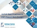 Webinar: UI/UX best practices in cms based web design