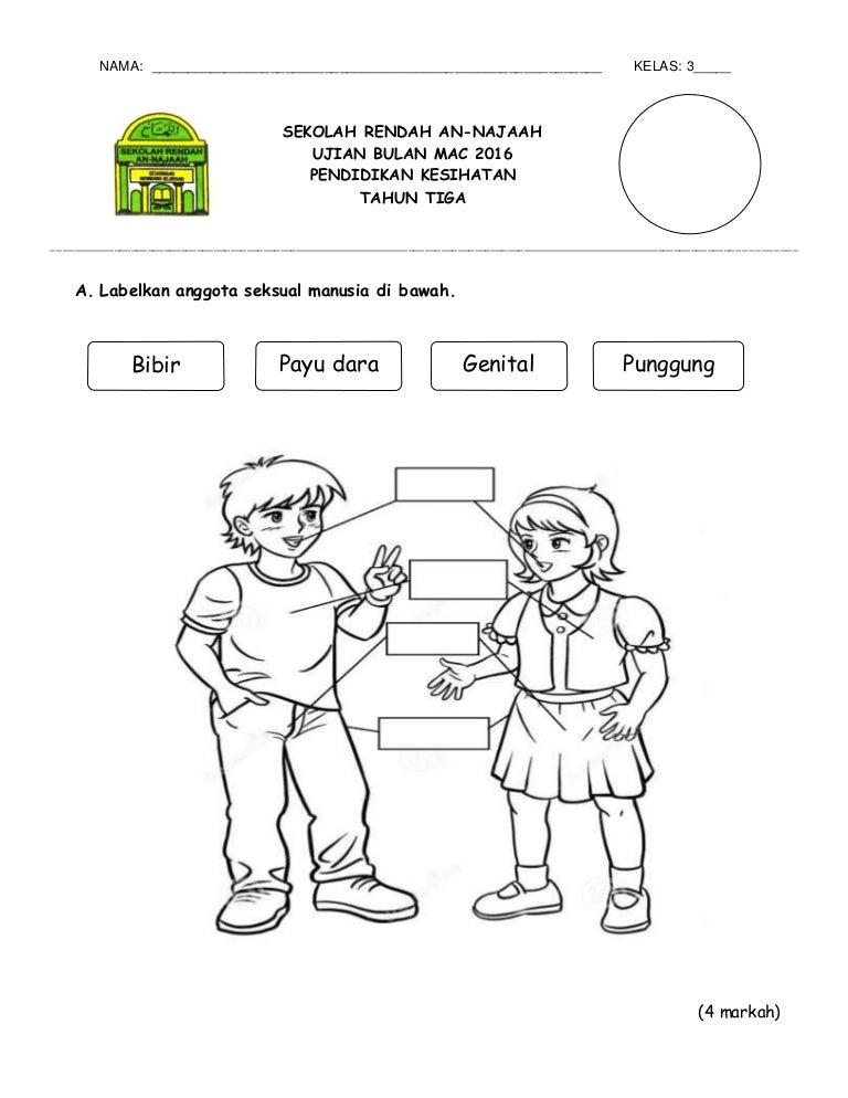 Ujian Bulan Mac Pendidikan Kesihatan Tahun 3 2016