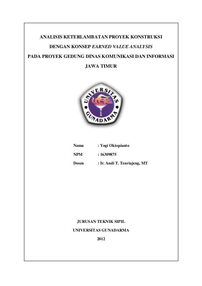 Proposal Skripsi Teknik Sipil Manajemen Konstruksi Kumpulan Berbagai Skripsi