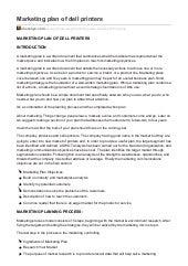 ukessayscom marketing plan of dell printers