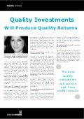 Quality Investments Will Produce Quality Returns: Interview with: Gina Sanchez - UK Investors Summit