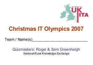 'christmas quiz' on SlideShare
