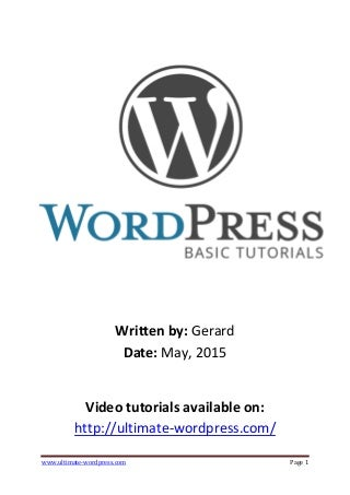 Ultimate WordPress Tutorial