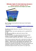 the ultimate guide to job interview answers pdf