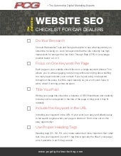 The Ultimate SEO Checklist for Car Dealers