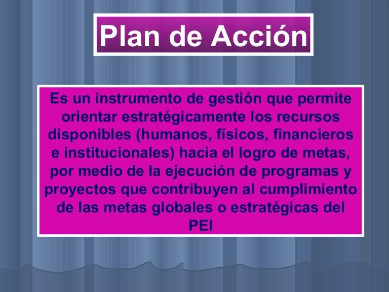 Plan accion ppt