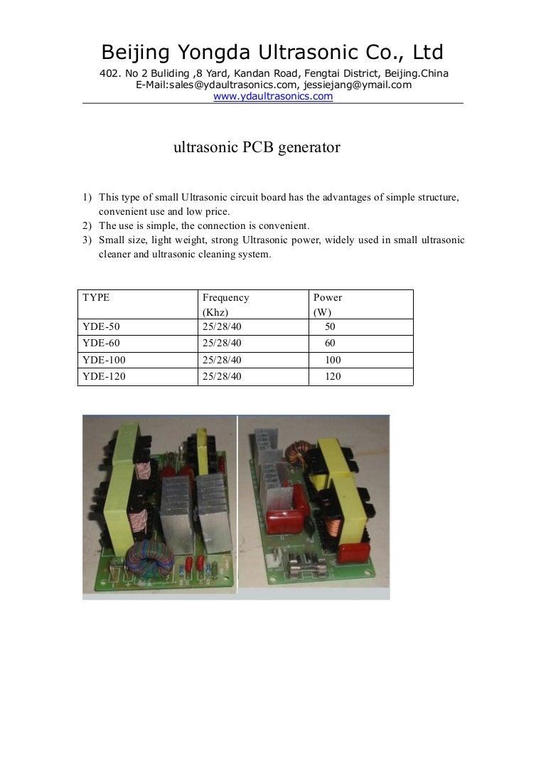 Ultrasonic Pcb Generator Generat Circuit And Buy