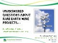 Unanswered Questions About Rare Earth Mine Projects - Sept 2012 - Greenfields Research