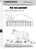 Una vaca paseando