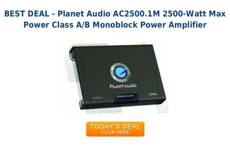 Unbeatable price planet audio ac2500 1 m 2500-watt max power