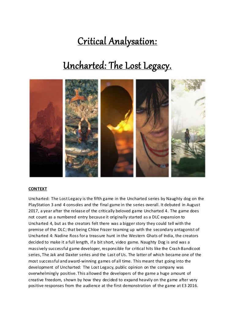 Uncharted Theory Task