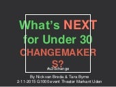 Under 30 changemakers presentation G1000 Theater Markant Uden