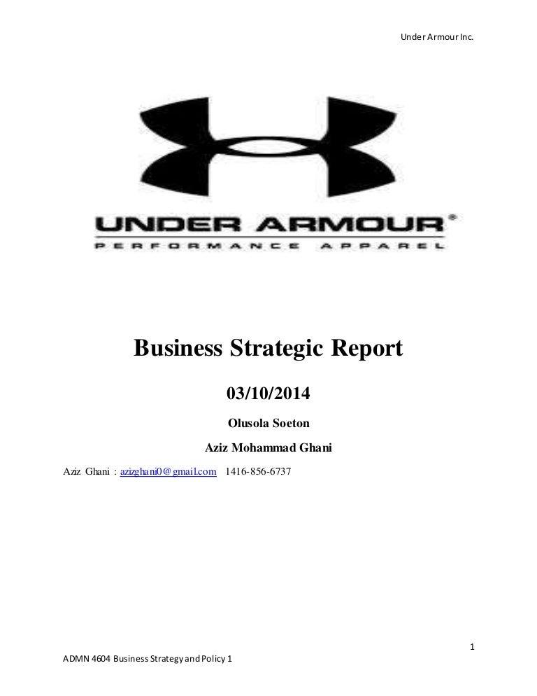 Under Armour Inc Strategic Outlook