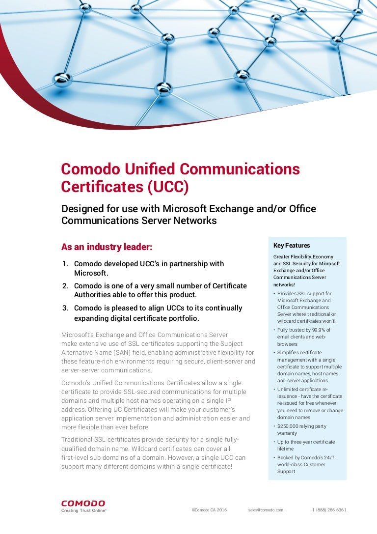Understand comodo ucc ssl certificate unified communication ssl xflitez Image collections
