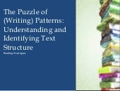 Understanding and identifying text structure 1