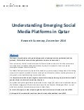 Understanding Emerging Social Media Platforms in Qatar (Research Summary, 2014)