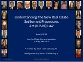 Understanding The New Real Estate Settlement Procedures Act (RESPA) Law