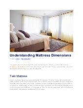 Understanding Mattress Dimensions