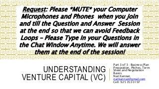 Understanding venture capital (vc) part3of3