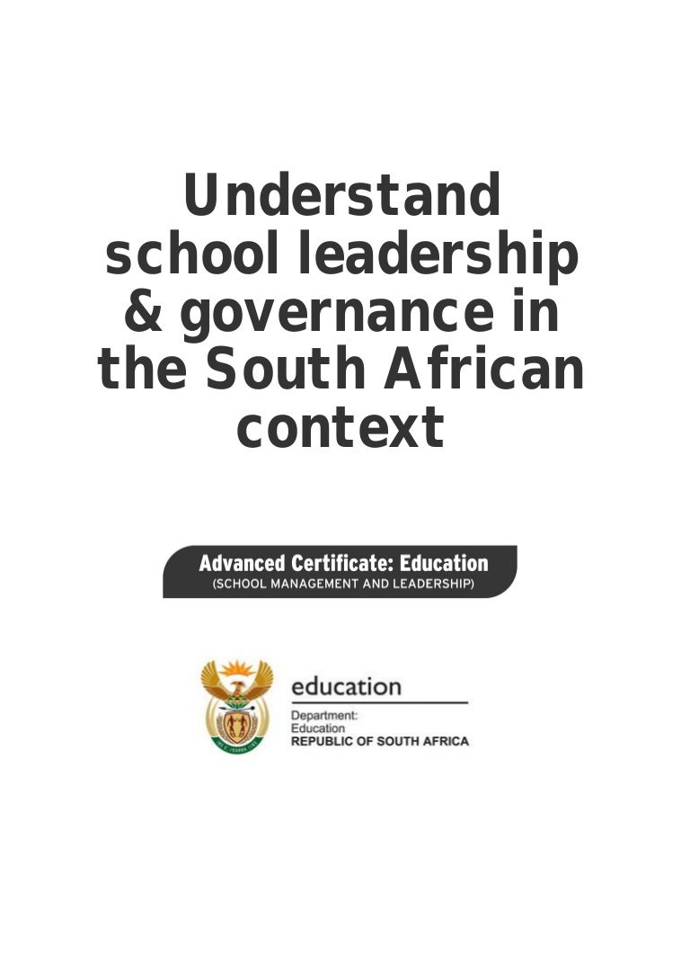 I Like Him Quotes Understand School Leadership And Governance In The South African Cont…