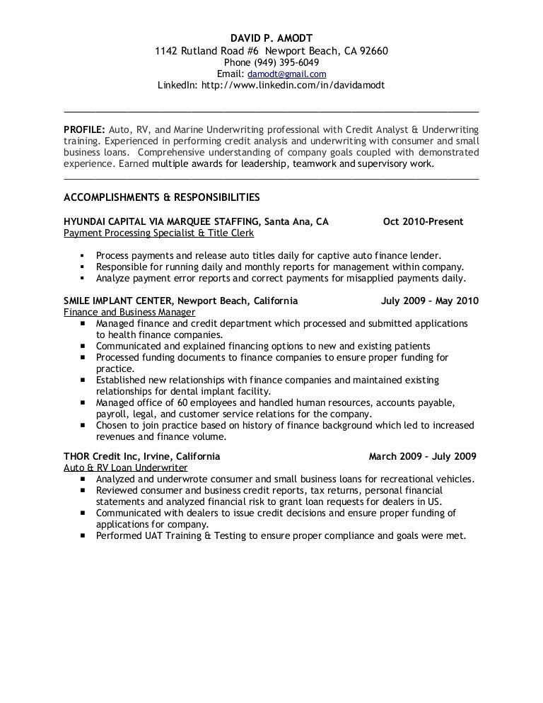 Job Description Of Credit Analyst Treasury Resume