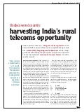 Ericsson Business Review: Undiscovered country: harvesting India's rural telecoms opportunity