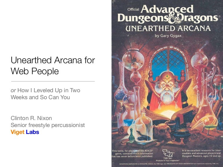 Unearthed Arcana for Web People