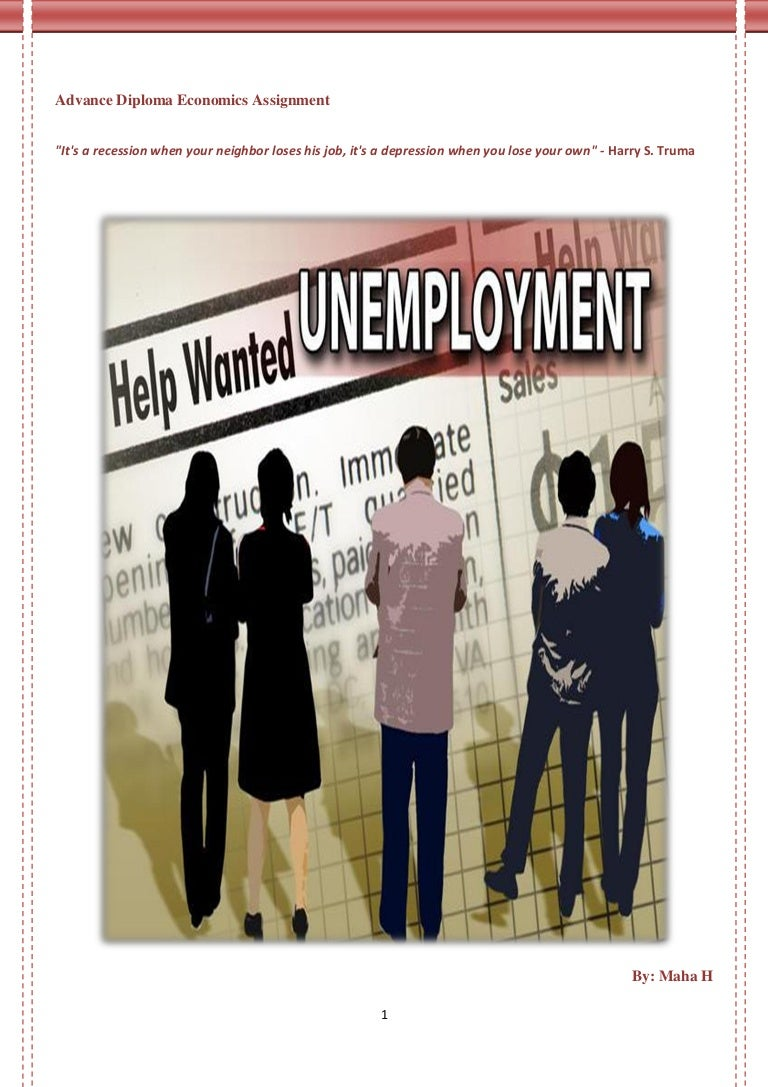 unemployment economics assignment