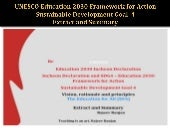Unesco education 2030 framework for action sustainable development goal  4 extract and  summary