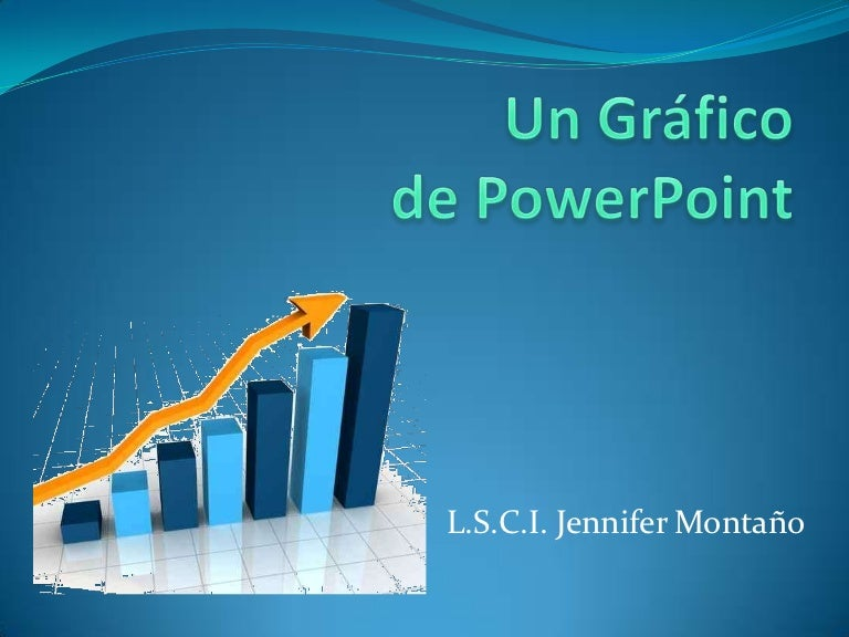 Un gráfico de power point