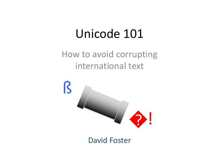 Unicode 101