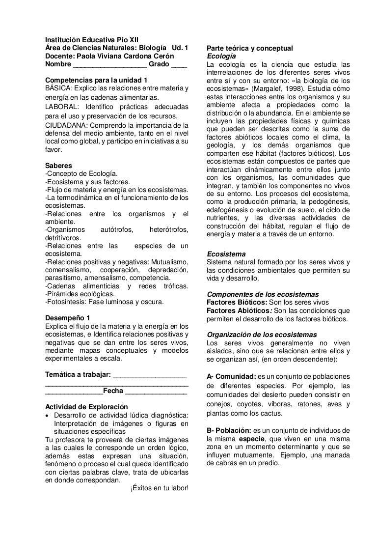 Unidad 1 biología 10