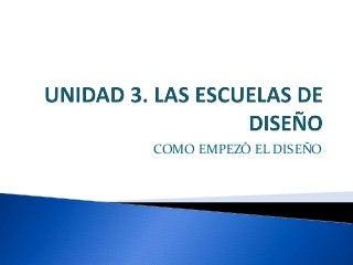Unidad 3. Las escuelas de diseño