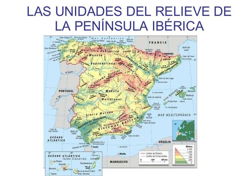 Unidades del relieve peninsular I