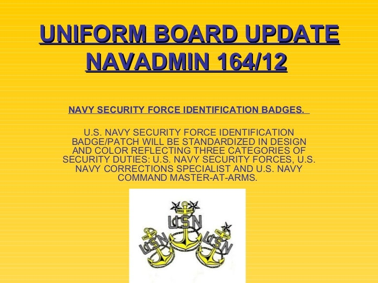Navy Uniform Training