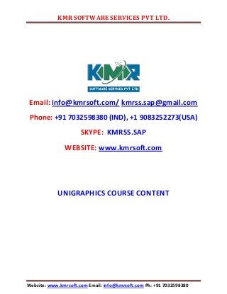 unigraphics online training by kmr unigraphics designer resume