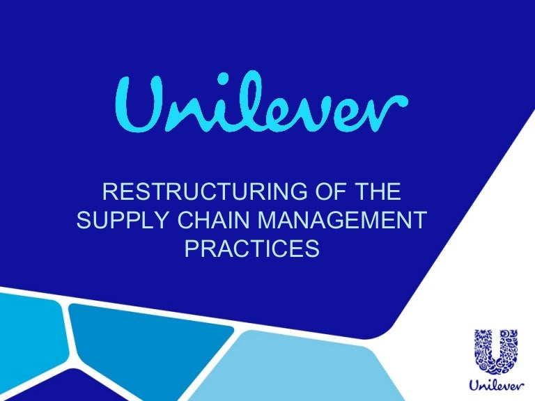 unilever supply chain management