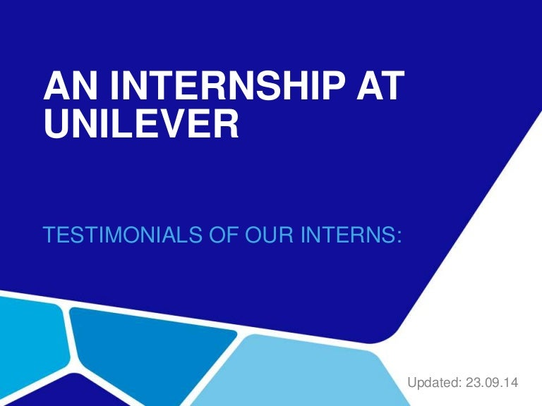 unilever internship testimonials, Presentation templates