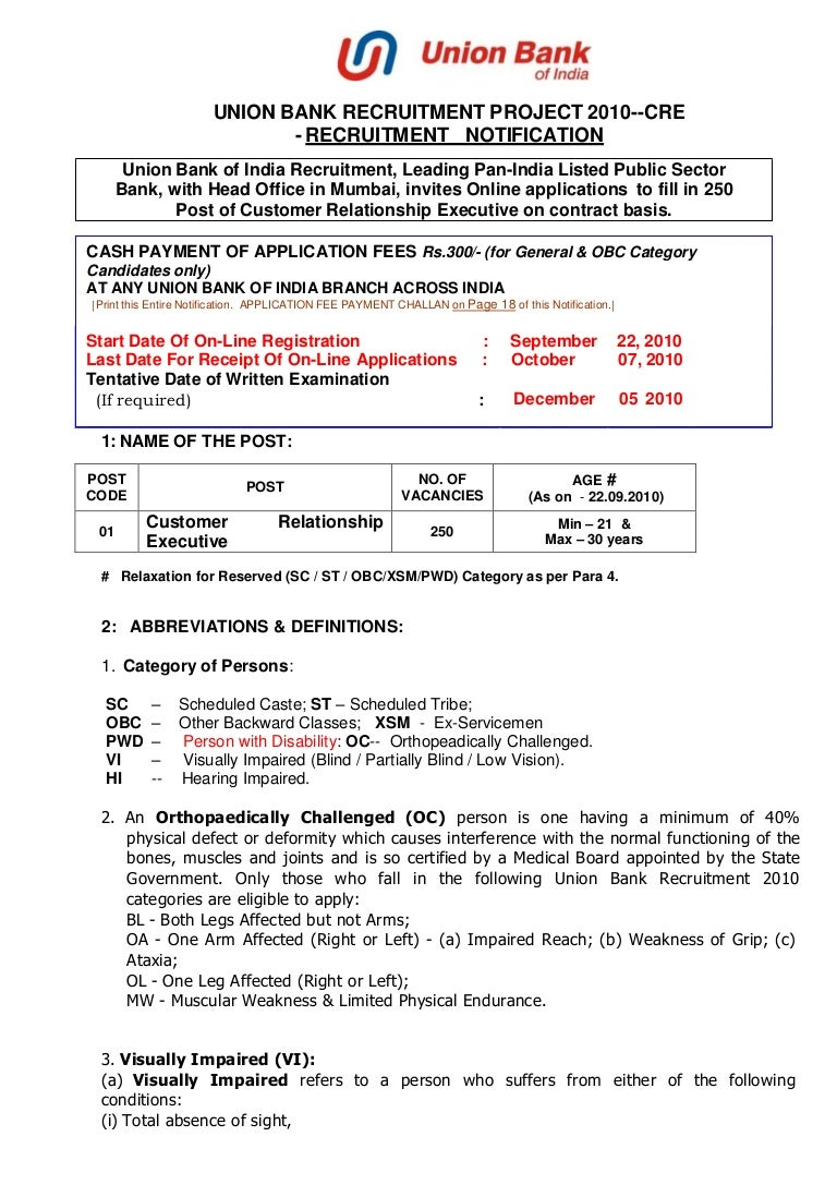 Union Bank Of India Account Opening Form Pdf