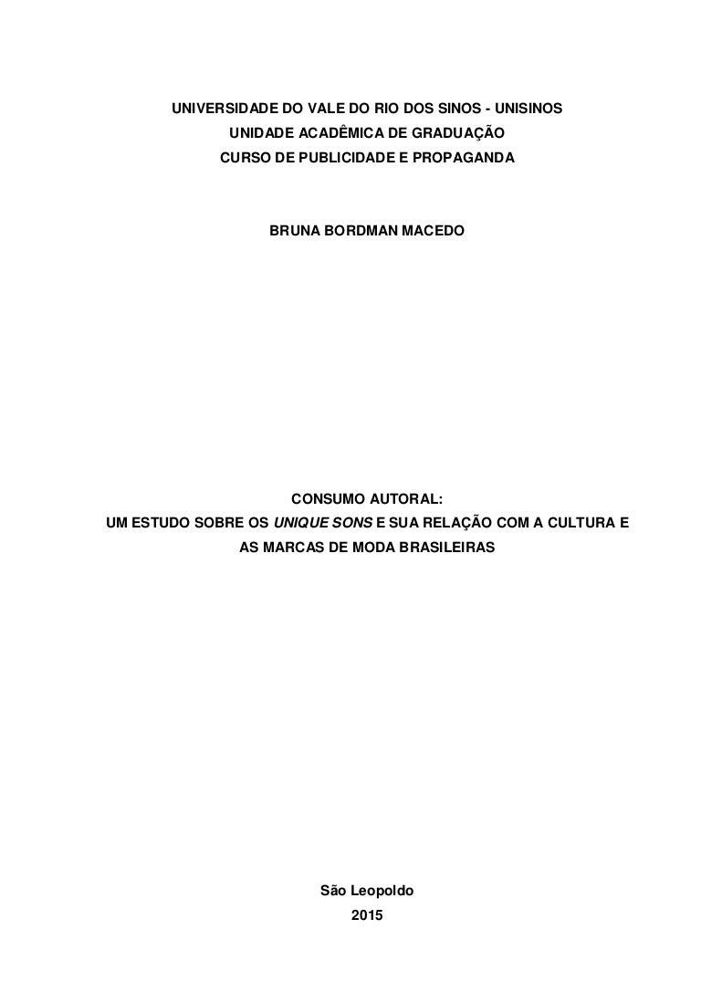 4fb79a1f0 Consumo autoral: um estudo sobre os Unique Sons e a sua relação com a…