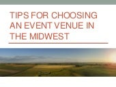 Tips for Choosing an Event Venue in the Midwest