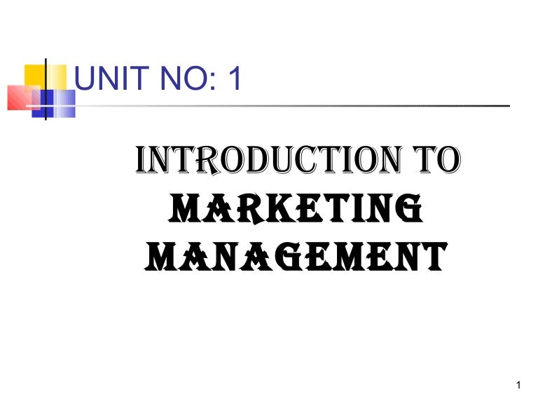 an introduction to marketing management 2 marketing management process 3 product management 4 the  the  introduction phase of the product lifecycle is the easiest to market, but.