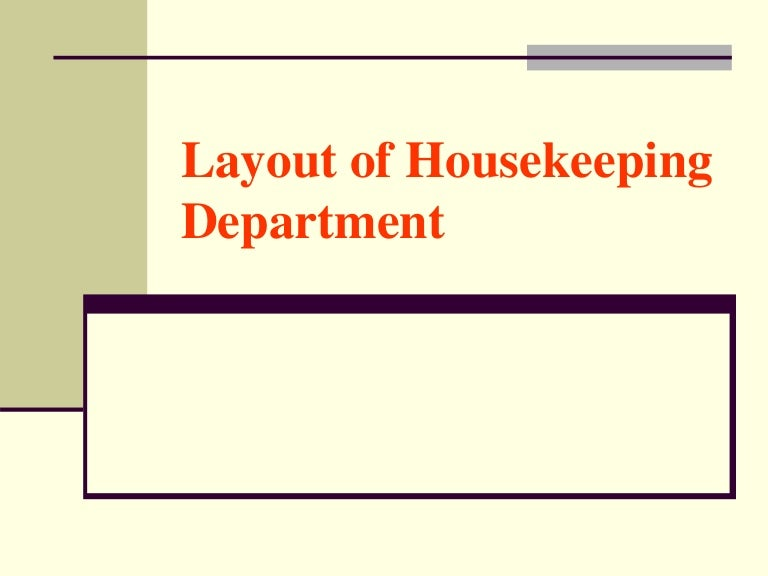 Unit 1 layout of housekeeping department thecheapjerseys Choice Image